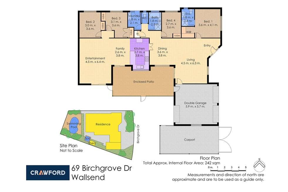 Floorplan of Homely house listing, 69 Birchgrove Drive, Wallsend NSW 2287
