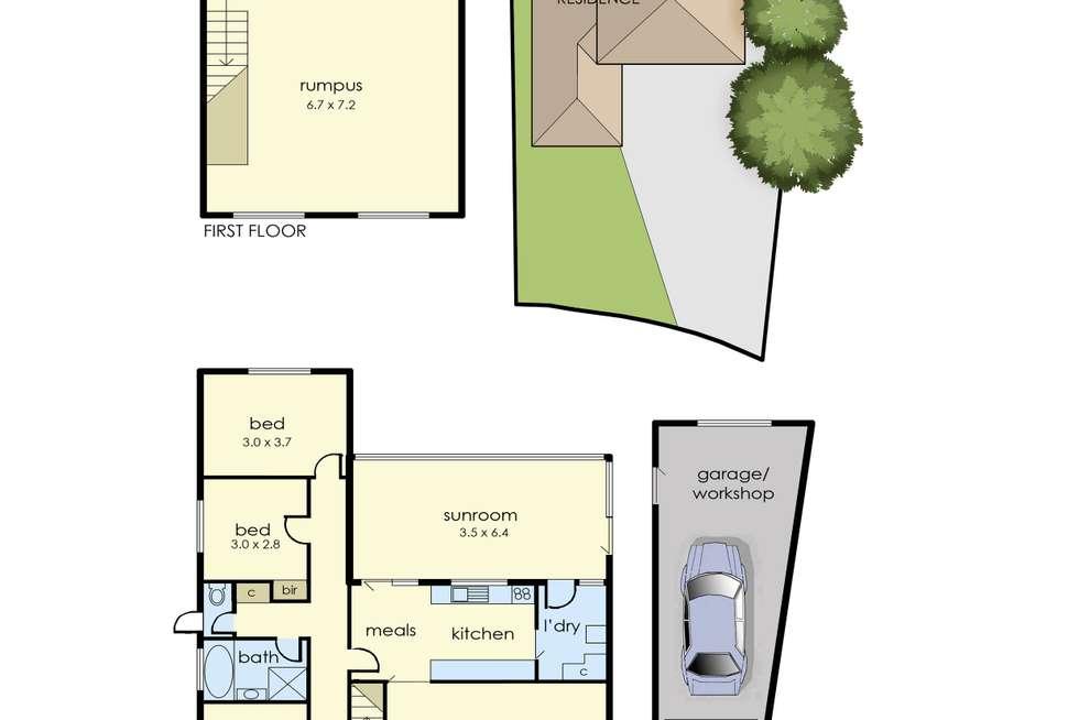 Floorplan of Homely house listing, 6 Alexander Crescent, Frankston VIC 3199