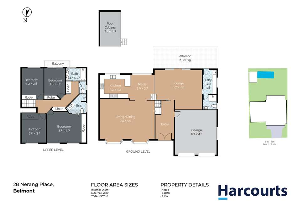 Floorplan of Homely house listing, 28 Nerang Place, Belmont NSW 2280