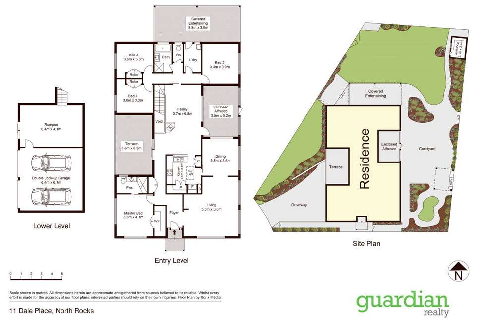 Floorplan of Homely house listing, 11 Dale Place, North Rocks NSW 2151