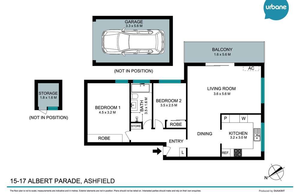 Floorplan of Homely apartment listing, 11/15-17 Albert Parade, Ashfield NSW 2131