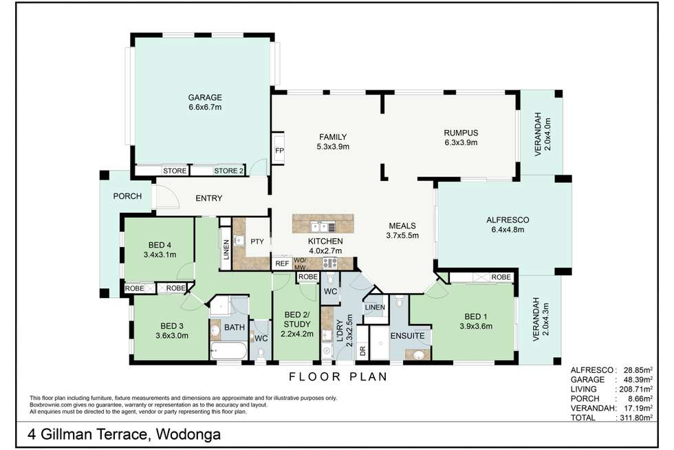 Floorplan of Homely house listing, 4 Gillman Terrace, Wodonga VIC 3690