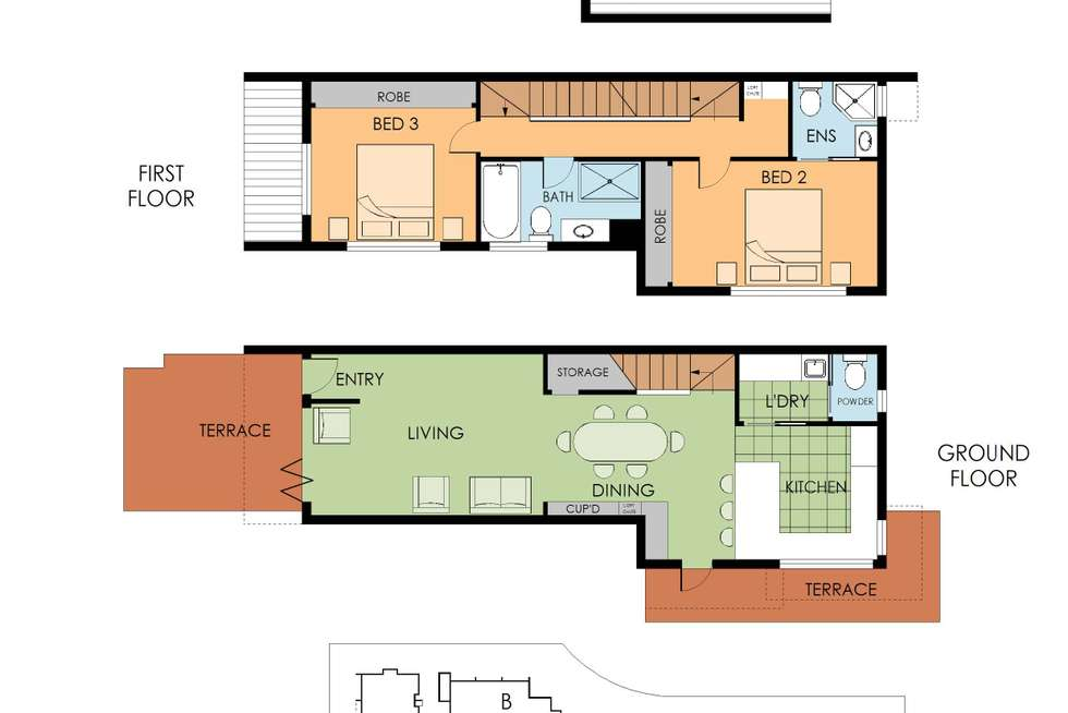 Floorplan of Homely townhouse listing, 23/7-11 College Crescent, St Ives NSW 2075