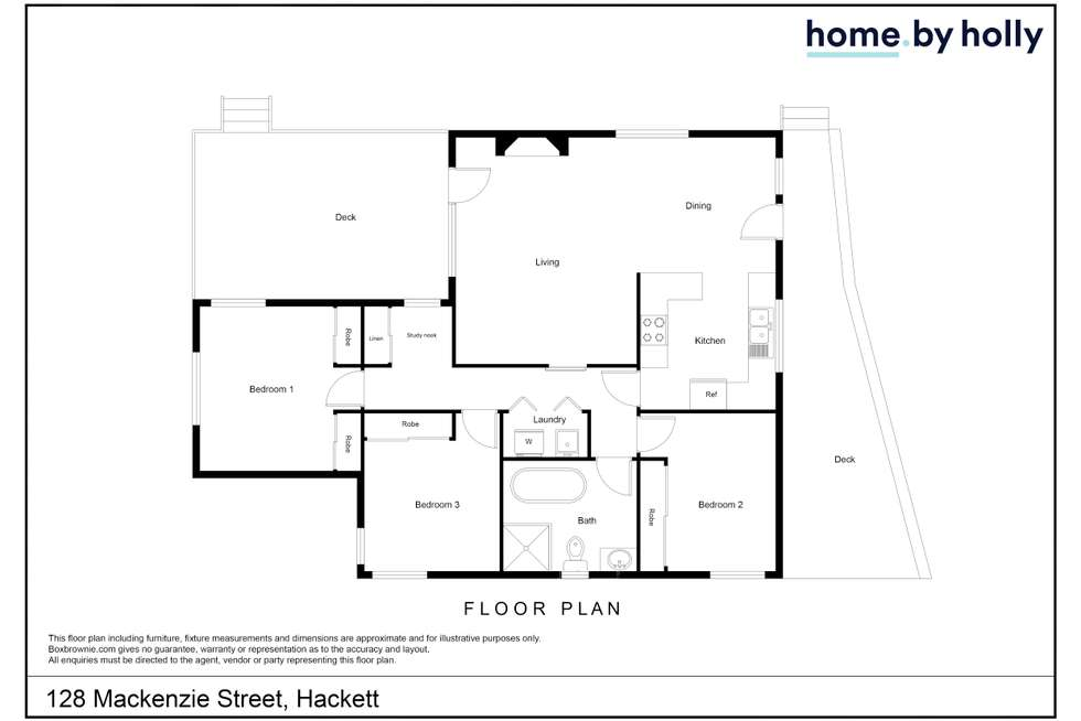 Floorplan of Homely house listing, 128 MacKenzie Street, Hackett ACT 2602
