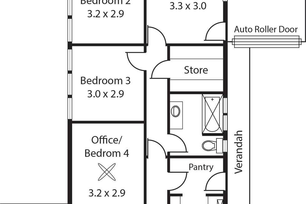 Floorplan of Homely house listing, 1 Slapes Gully Road, Burnside SA 5066