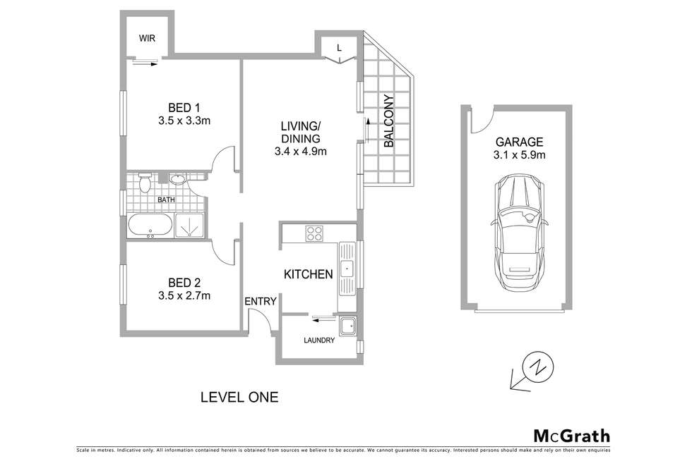 Floorplan of Homely apartment listing, 5/86 Hunter Street, Hornsby NSW 2077