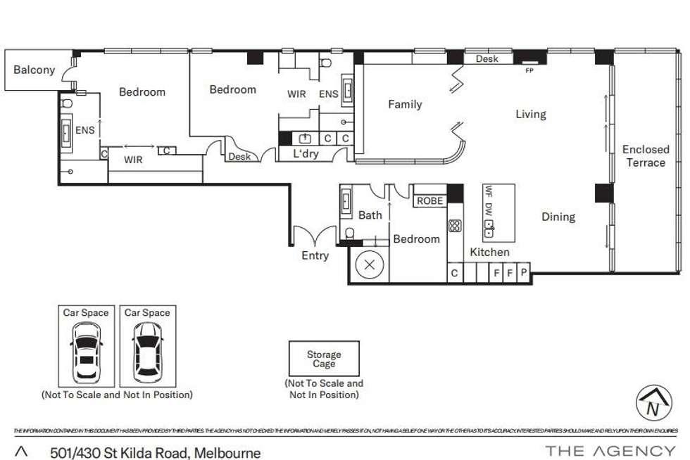 Floorplan of Homely apartment listing, 501/430 St Kilda Road, Melbourne VIC 3000
