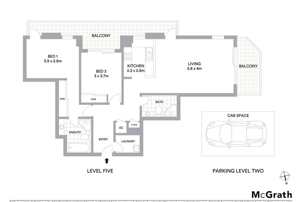 Floorplan of Homely apartment listing, 54/4-10 Pound Road, Hornsby NSW 2077