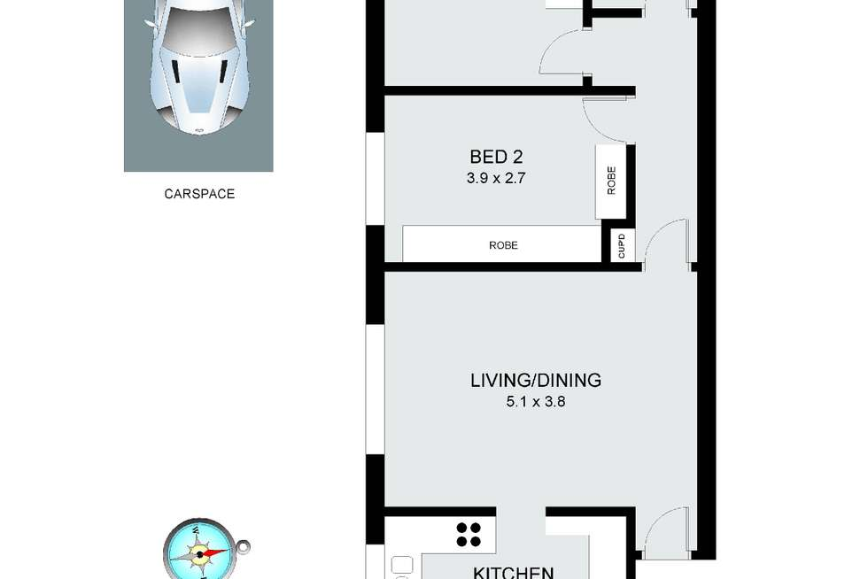 Floorplan of Homely apartment listing, 2/5 Fairway Close, Manly Vale NSW 2093