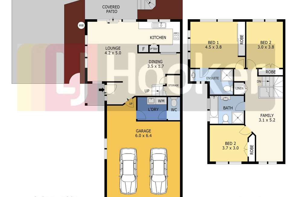 Floorplan of Homely townhouse listing, 1/164 Albany Street, Point Frederick NSW 2250