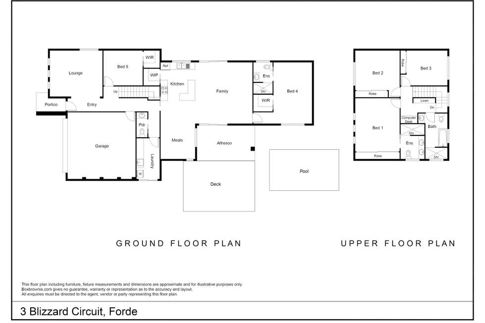 Floorplan of Homely house listing, 3 Blizzard Circuit, Forde ACT 2914