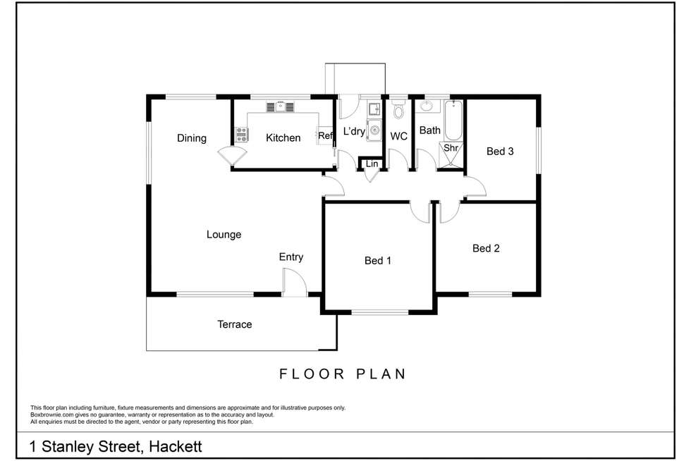 Floorplan of Homely house listing, 1 Stanley Street, Hackett ACT 2602