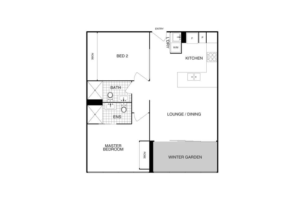 Floorplan of Homely apartment listing, 211/6 Provan Street, Campbell ACT 2612