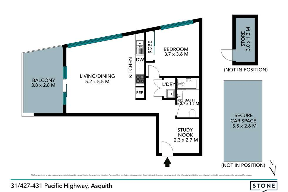 Floorplan of Homely apartment listing, 31/427-431 Pacific Highway, Asquith NSW 2077