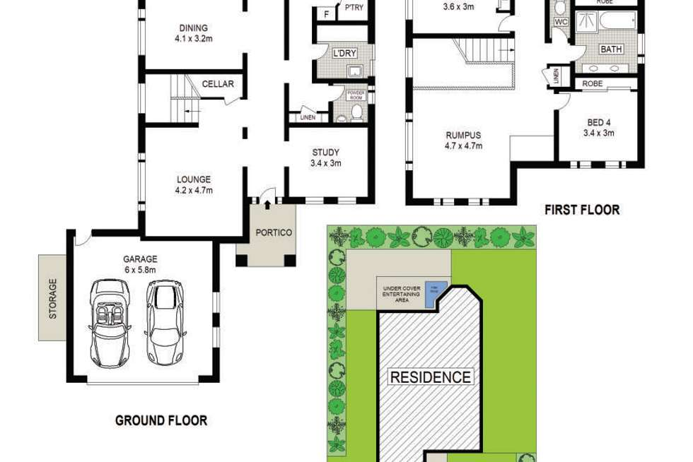 Floorplan of Homely house listing, 2 Alpine Way, Glenwood NSW 2768