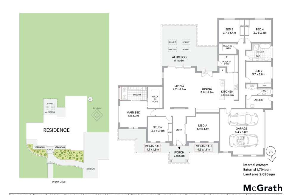 Floorplan of Homely house listing, 16 Wurth Drive, Mudgee NSW 2850