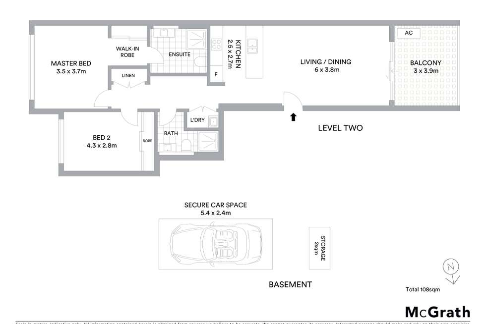 Floorplan of Homely apartment listing, 26/2-4 Lodge Street, Hornsby NSW 2077