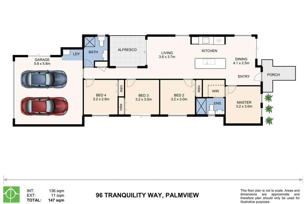 Floorplan of Homely house listing, 96 Tranquility Way, Palmview QLD 4553