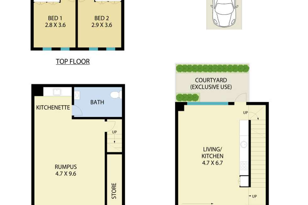 Floorplan of Homely apartment listing, 104/481 Willoughby Road, Willoughby NSW 2068