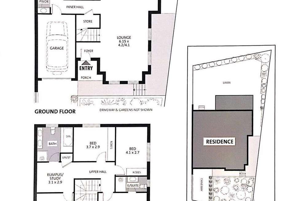 Floorplan of Homely semiDetached listing, 37B Hilder Road, Ermington NSW 2115