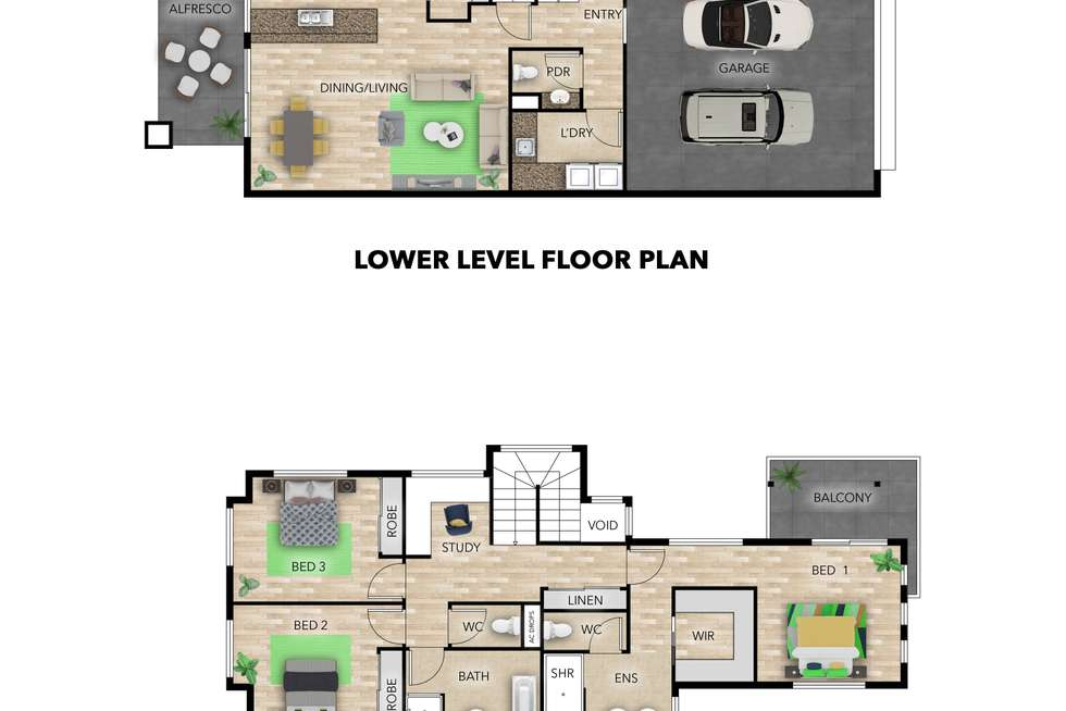 Floorplan of Homely house listing, 47 Affinity Place, Birtinya QLD 4575