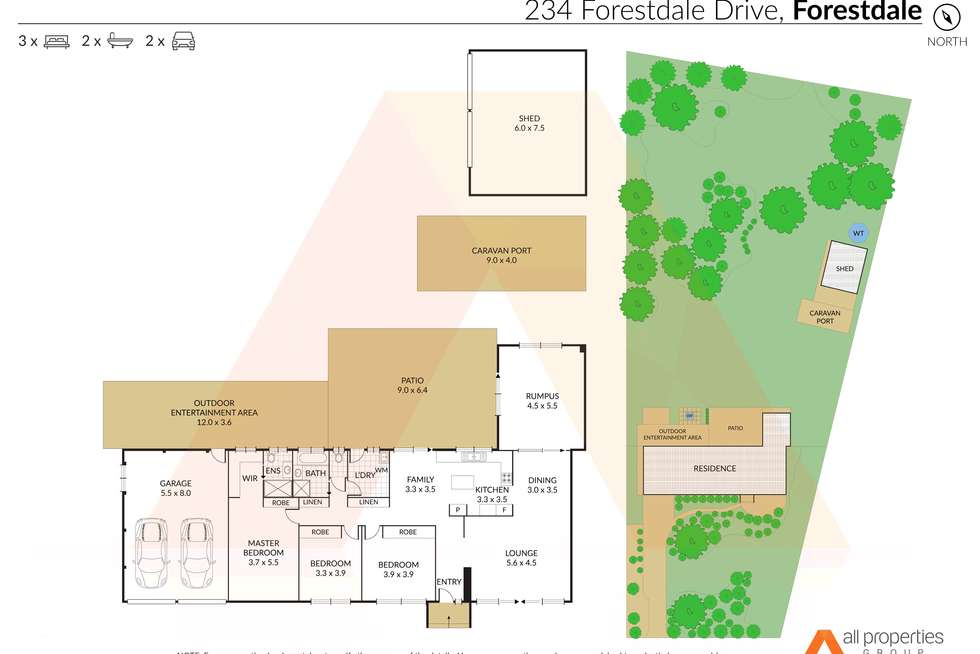 Floorplan of Homely house listing, 234-236 Forestdale Drive, Forestdale QLD 4118