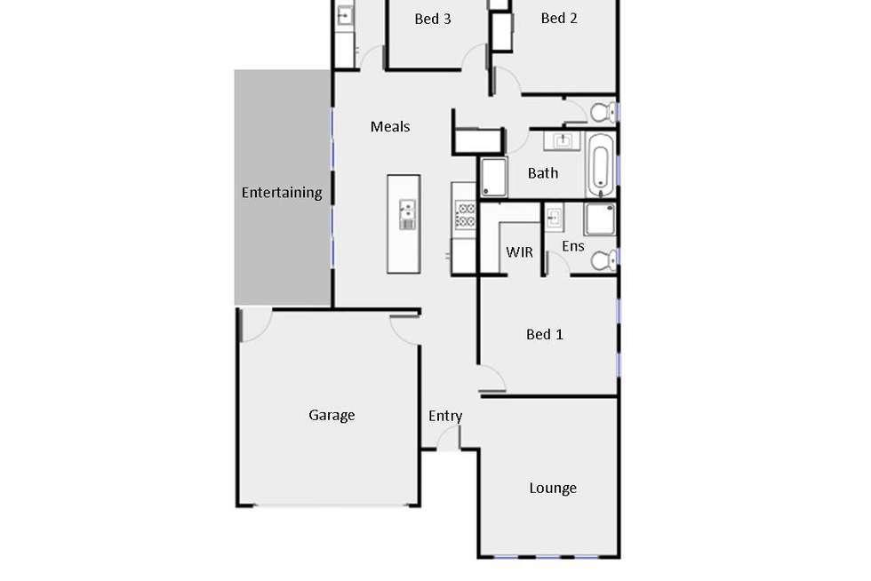 Floorplan of Homely house listing, 2 Karalanza Drive, Mildura VIC 3500