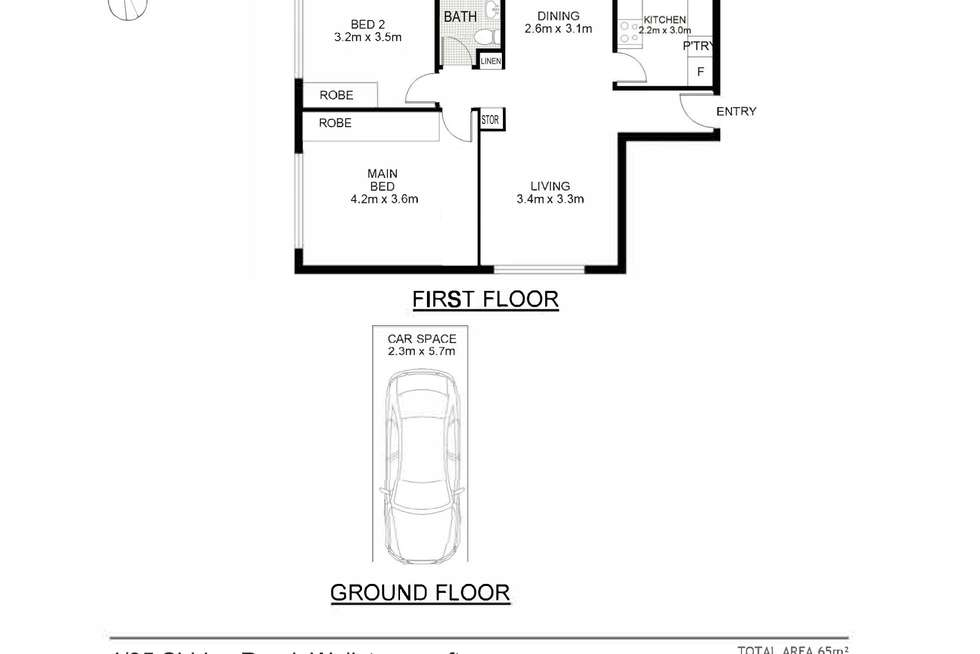 Floorplan of Homely apartment listing, 4/95 Shirley Road, Wollstonecraft NSW 2065