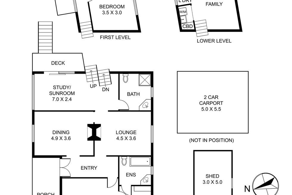 Floorplan of Homely house listing, 366 Glenfern Road, Upwey VIC 3158