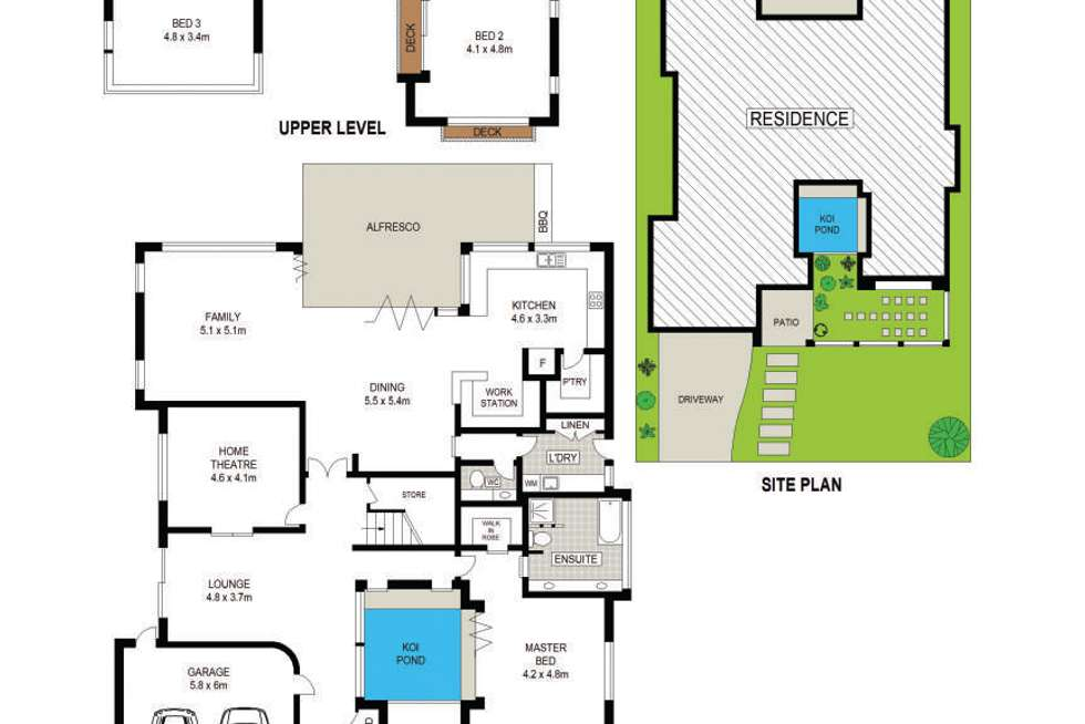 Floorplan of Homely house listing, 5 Craigend Place, Bella Vista NSW 2153