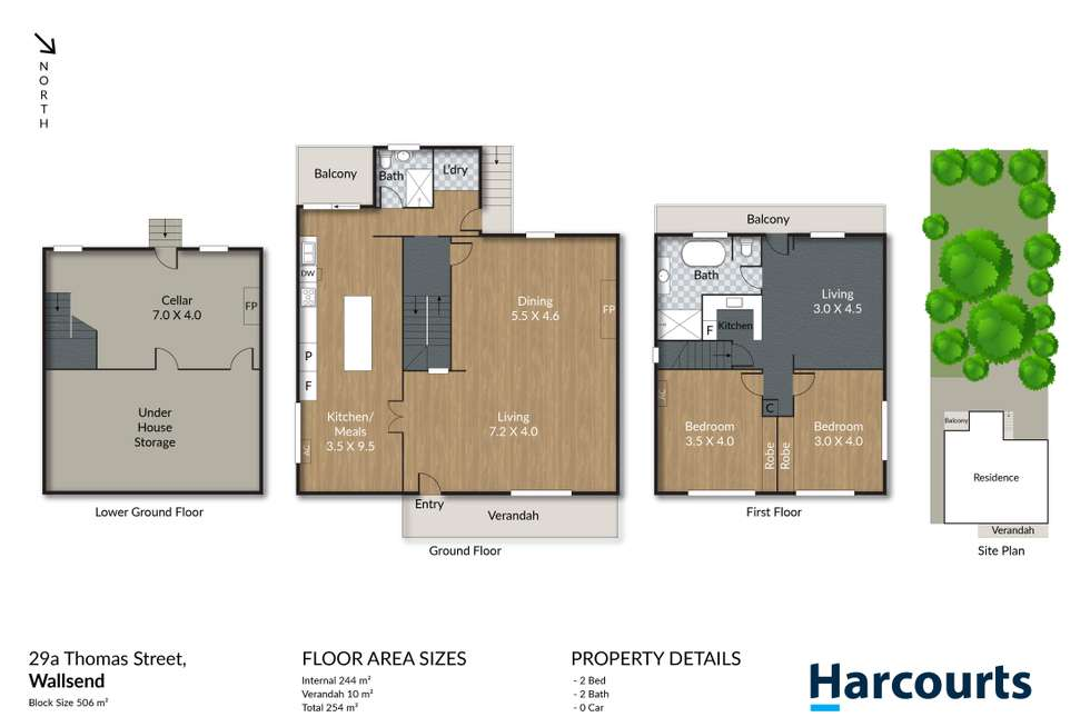 Floorplan of Homely house listing, 45 Metcalfe Street, Wallsend NSW 2287
