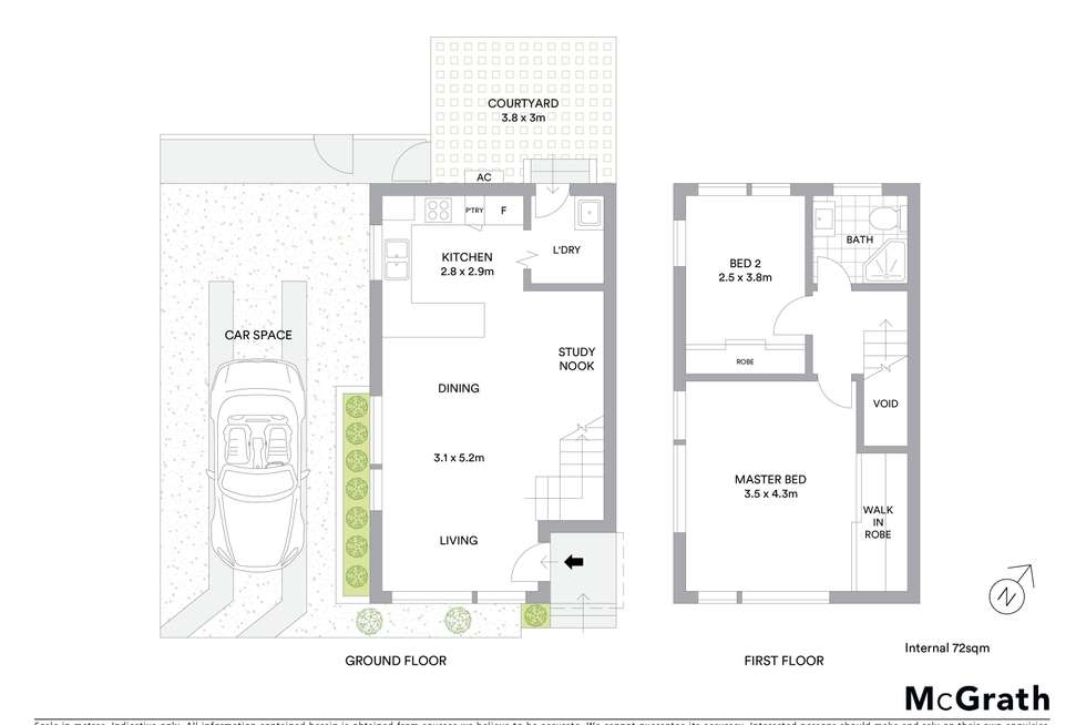 Floorplan of Homely townhouse listing, 1/6 Derwent Street, South Hurstville NSW 2221