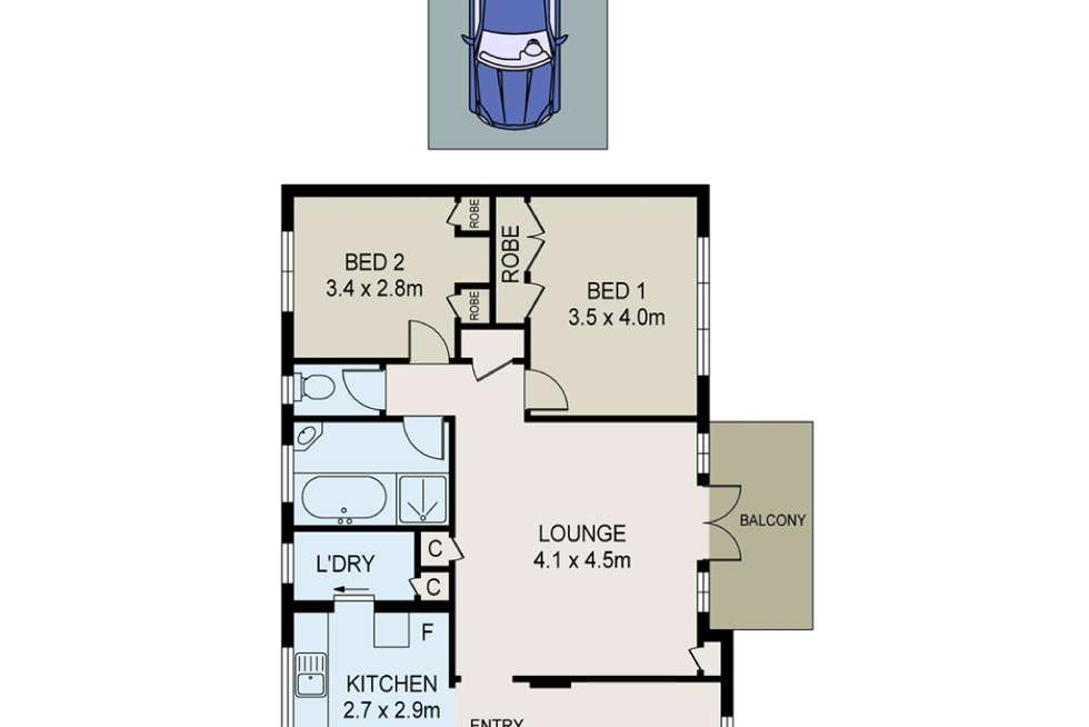 Floorplan of Homely apartment listing, 31/234 Pacific Highway, Lindfield NSW 2070