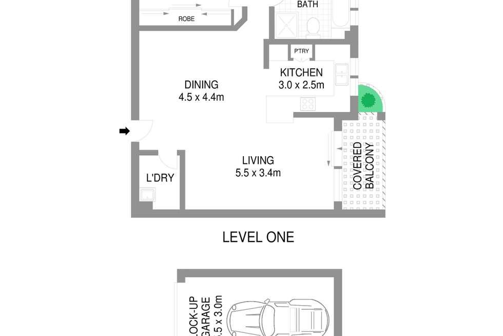 Floorplan of Homely unit listing, 6/351-353 President Avenue, Gymea NSW 2227