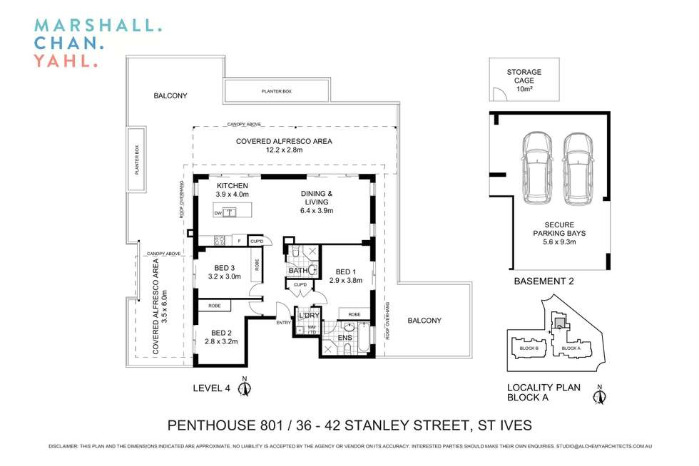 Floorplan of Homely apartment listing, 801/36-42 Stanley Street, St Ives NSW 2075