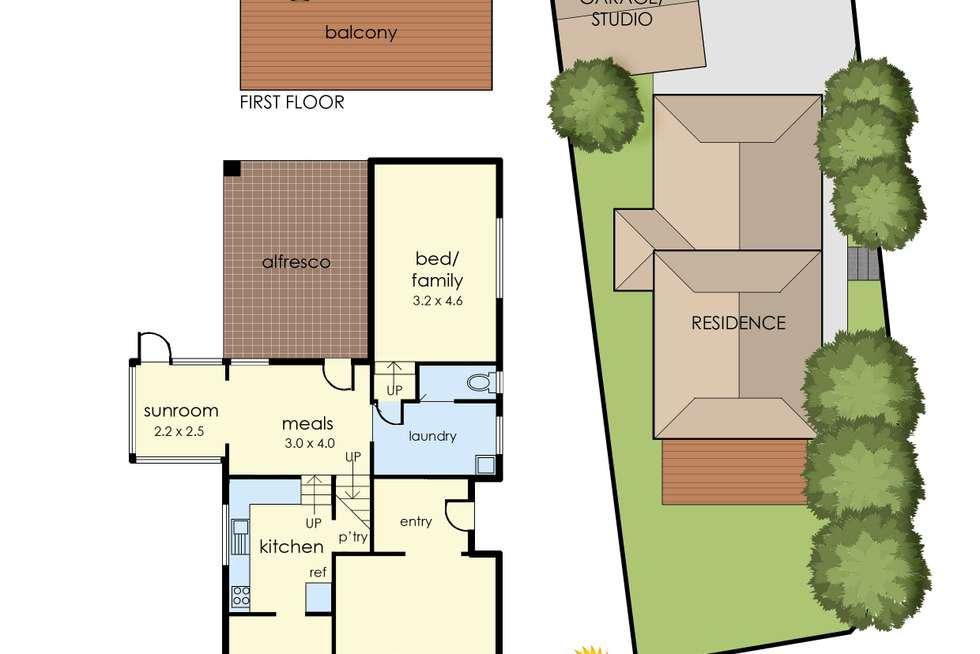 Floorplan of Homely house listing, 14 Hillcrest Road, Frankston VIC 3199