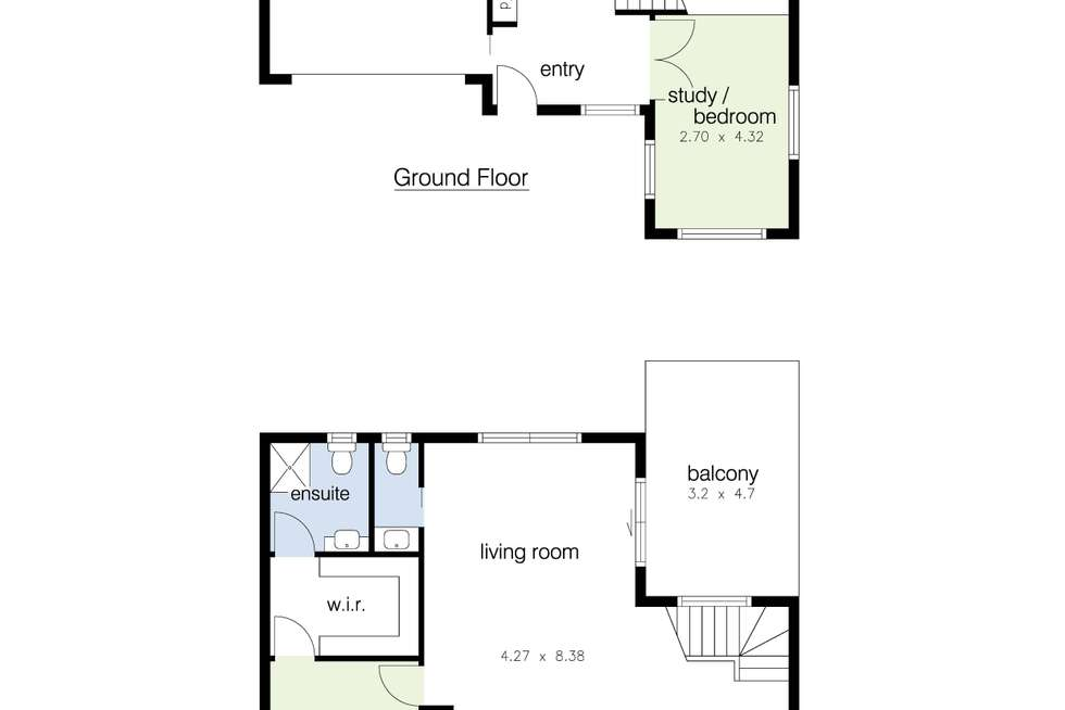 Floorplan of Homely townhouse listing, 6/198 Hyde Street, Yarraville VIC 3013