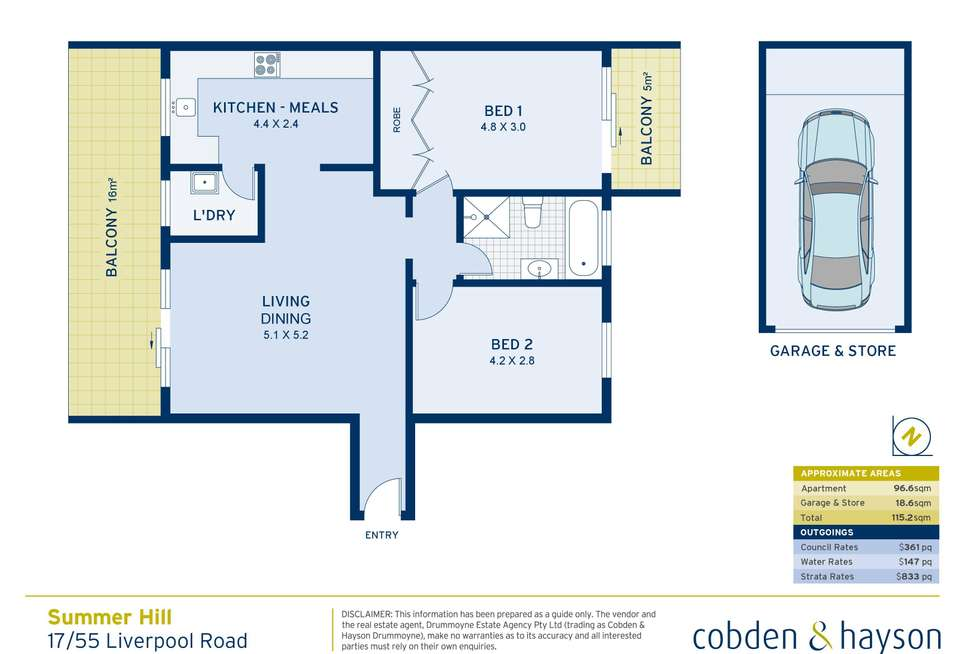 Floorplan of Homely apartment listing, 17/55-57 Liverpool Road, Ashfield NSW 2131