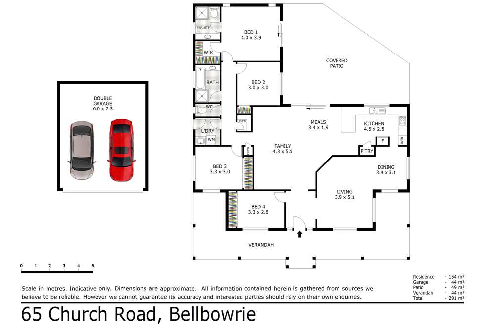 Floorplan of Homely house listing, 65 Church Road, Bellbowrie QLD 4070