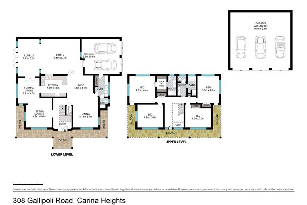 Floorplan of Homely house listing, 308 Gallipoli Road, Carina Heights QLD 4152