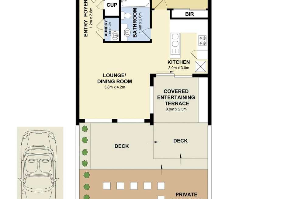 Floorplan of Homely apartment listing, 9/41 Roseberry Street, Manly Vale NSW 2093