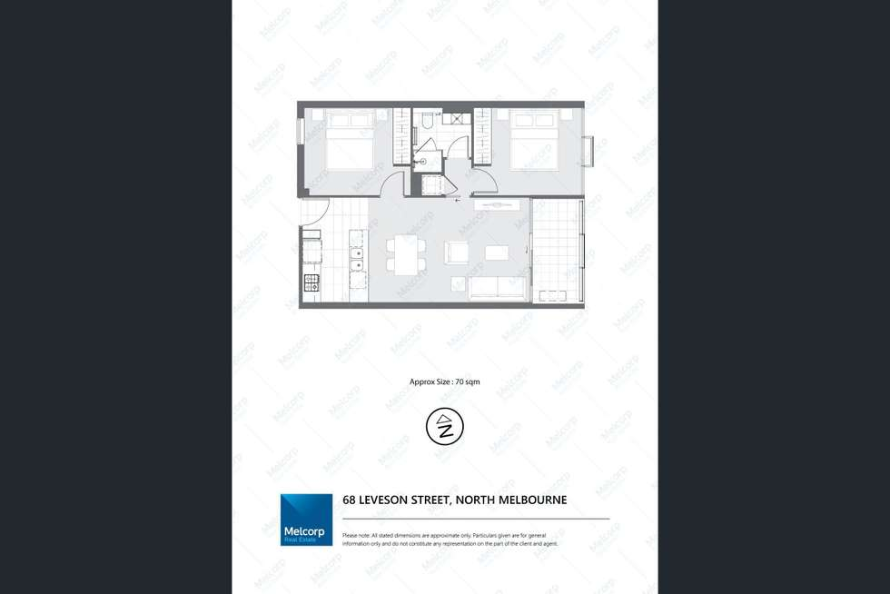 Floorplan of Homely apartment listing, 207/68 Leveson Street, North Melbourne VIC 3051