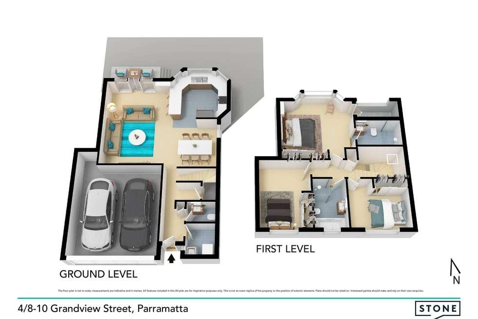 Floorplan of Homely townhouse listing, 4/8-10 Grandview Street, Parramatta NSW 2150