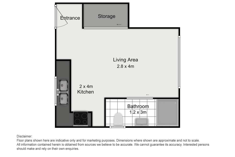 Floorplan of Homely studio listing, 411a Kingsway, Caringbah NSW 2229