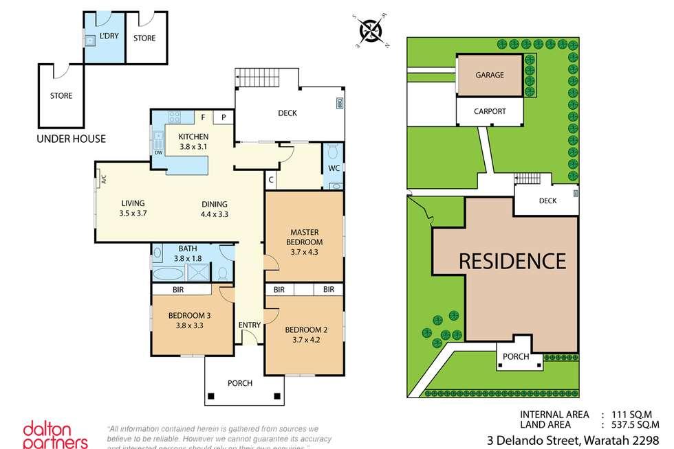 Floorplan of Homely house listing, 3 Delando Street, Waratah NSW 2298