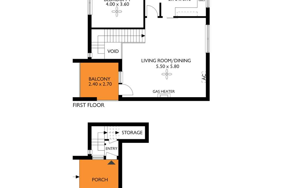 Floorplan of Homely unit listing, 2/46 Queen Street, Norwood SA 5067