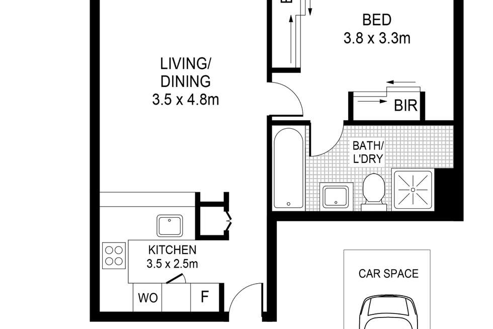 Floorplan of Homely apartment listing, 132/6-14 Oxford Street, Darlinghurst NSW 2010
