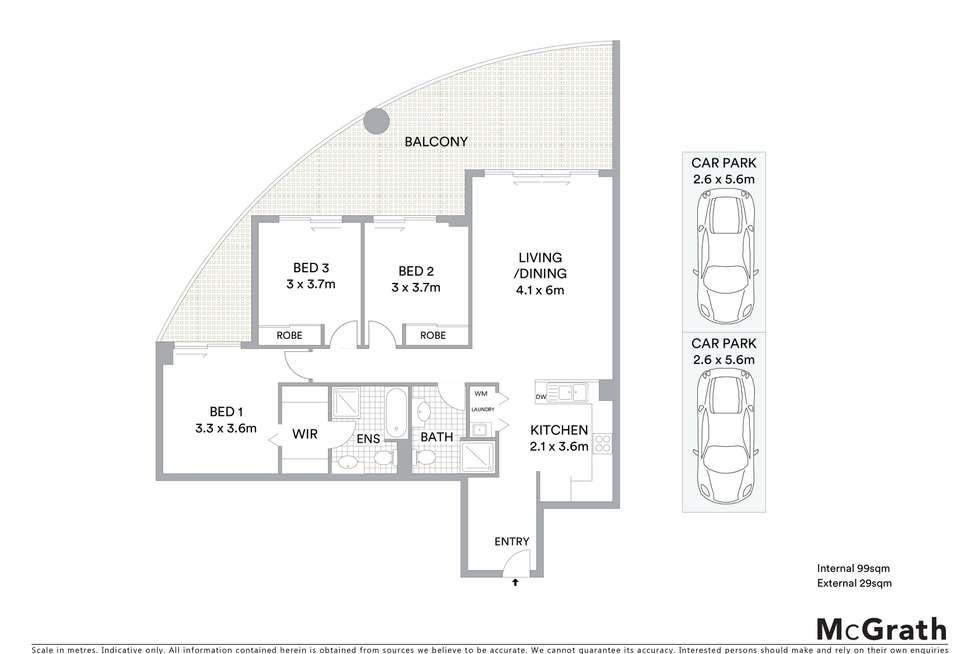 Floorplan of Homely apartment listing, Level 7/274/80 John Whiteway Drive, Gosford NSW 2250