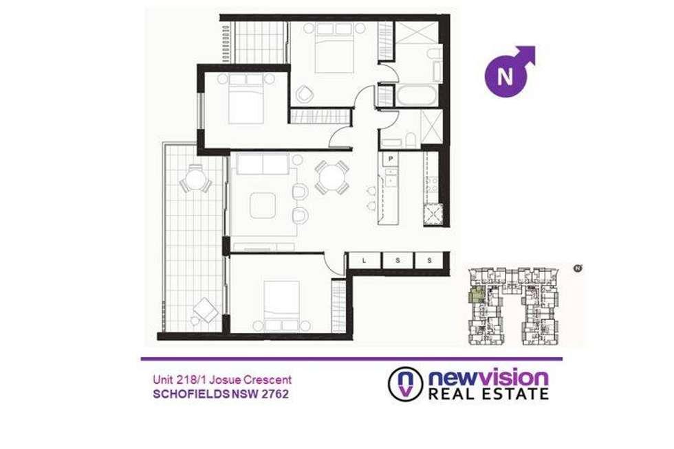 Floorplan of Homely apartment listing, 75/1 Josue Crescent, Schofields NSW 2762