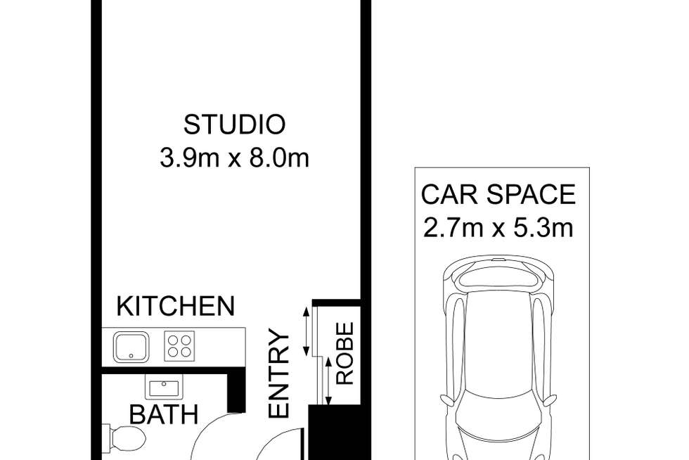 Floorplan of Homely studio listing, 60/75-79 Jersey Street North, Hornsby NSW 2077